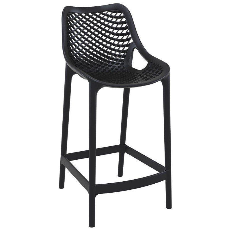 Air Outdoor Counter High Chair Black