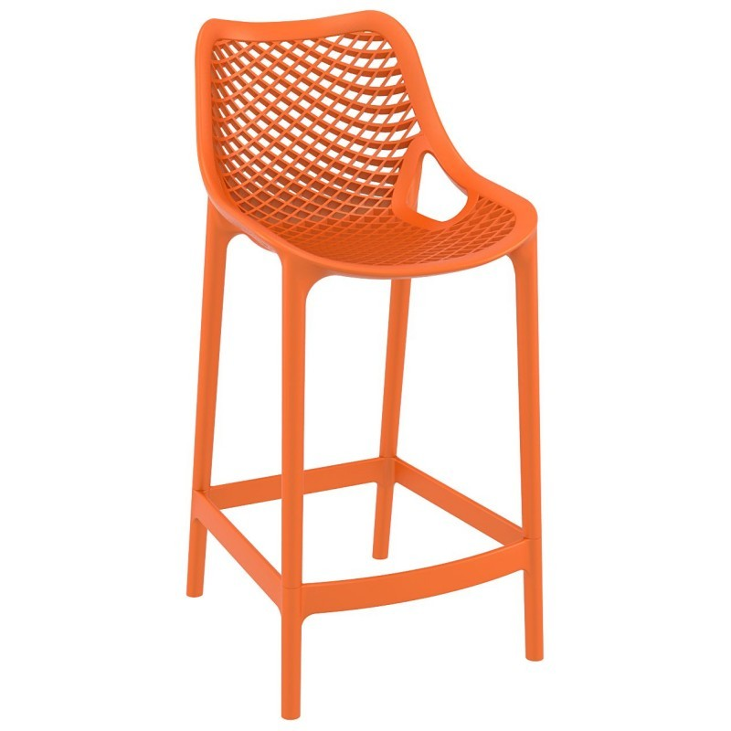 Air Outdoor Counter High Chair Orange
