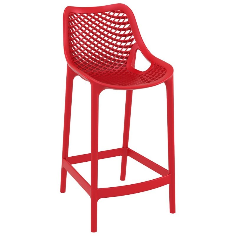 Air Outdoor Counter High Chair Red