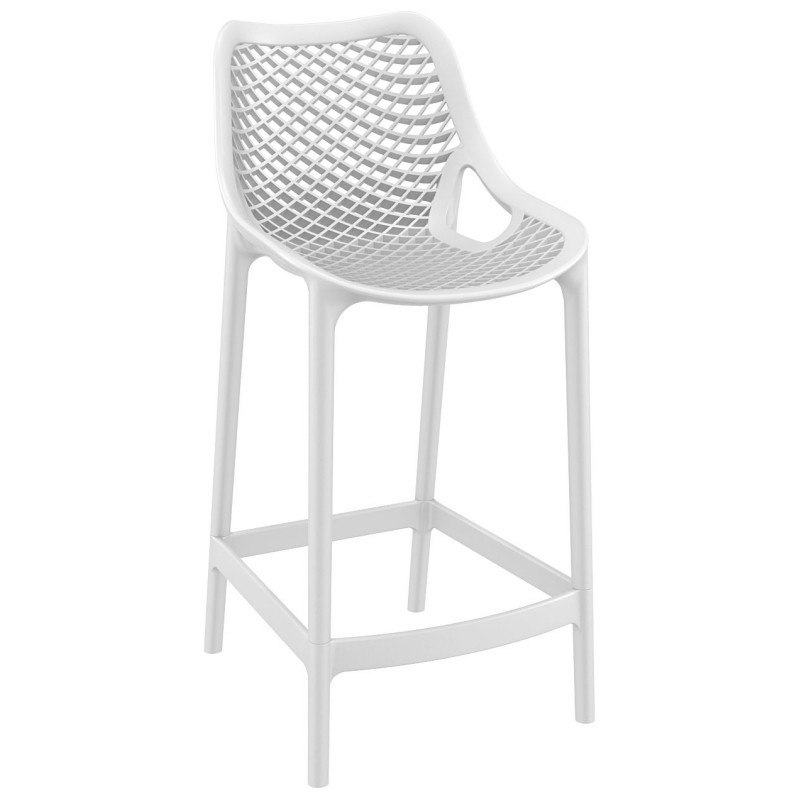 Air Outdoor Counter High Chair White