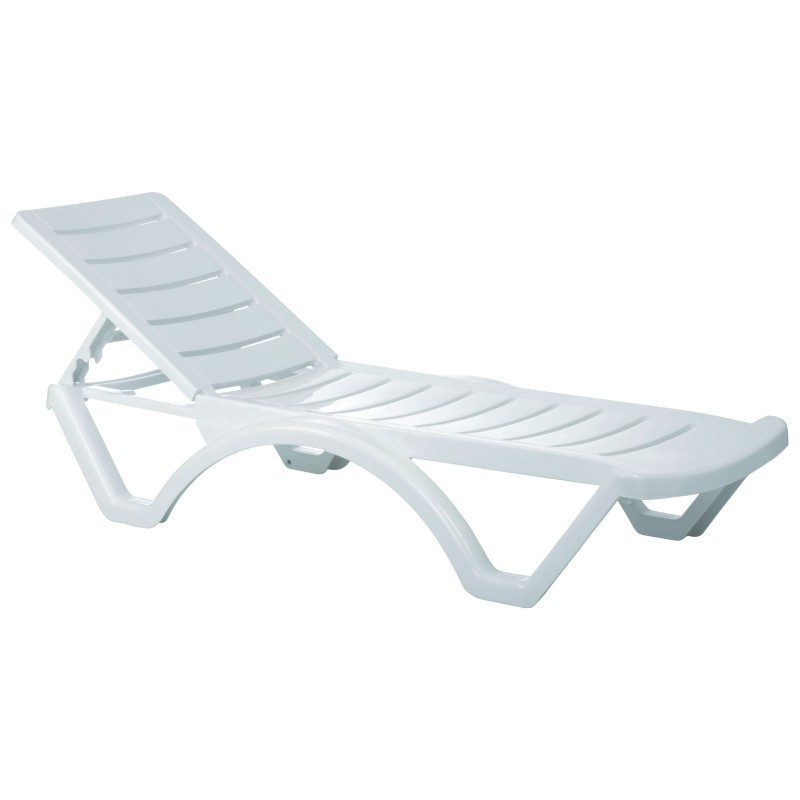 Aqua white resin chaise lounge isp076 cozydays for Chaise longue resine