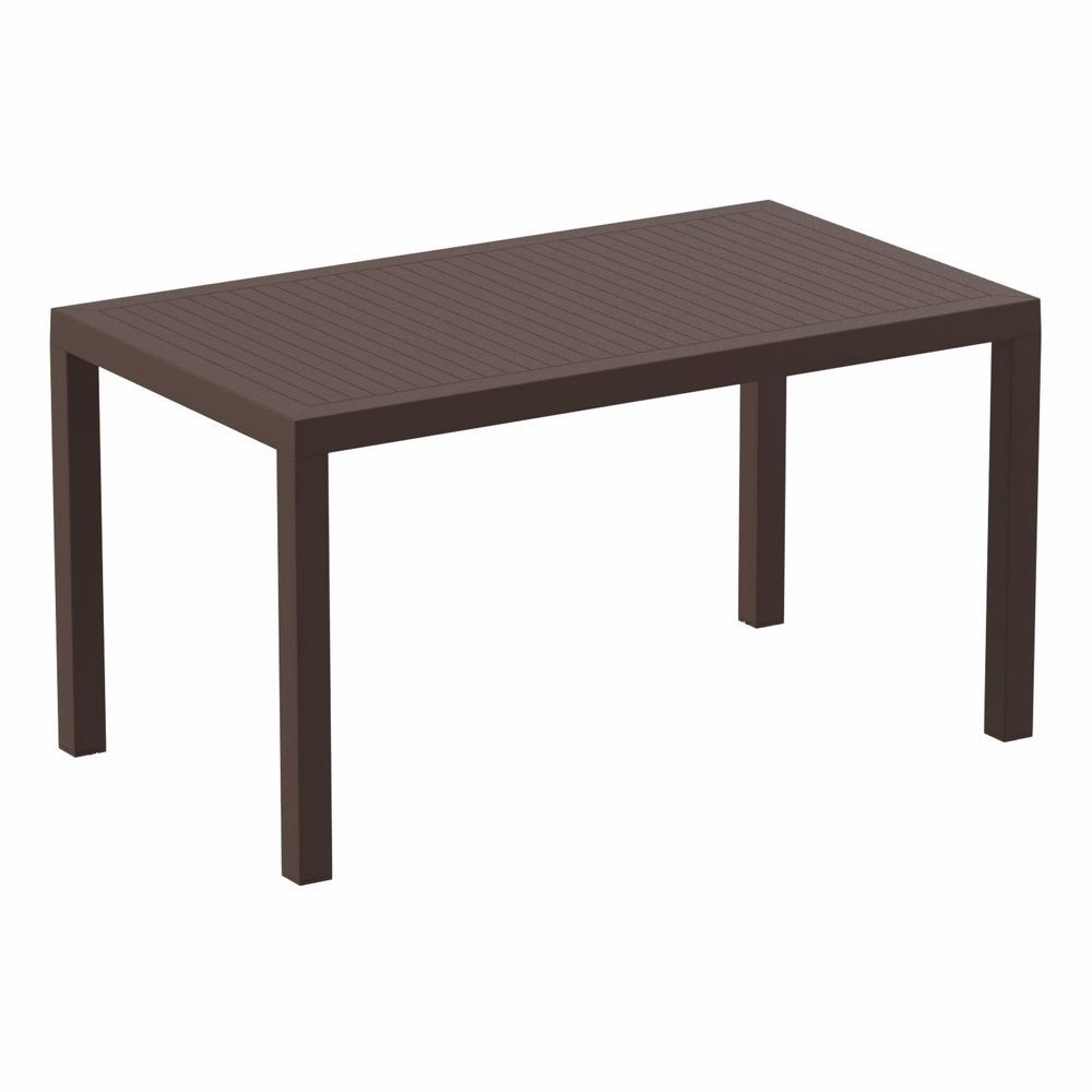 Ares Rectangle Outdoor Dining Table 55 Inch Brown Isp186
