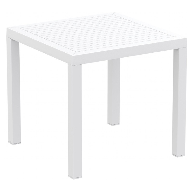 Ares Resin Outdoor Table 31 inch Square White