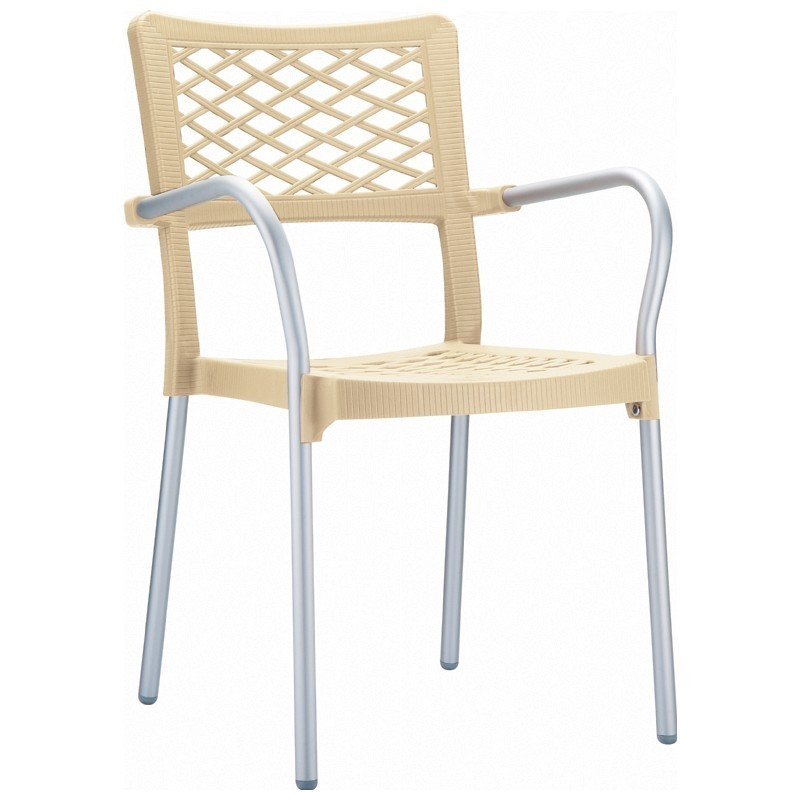 Bella Outdoor Arm Chair Beige