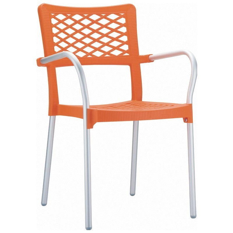 Commercial Bella Outdoor Chair Orange