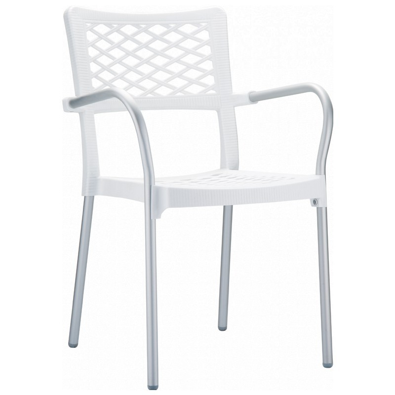 Bella Outdoor Arm Chair White