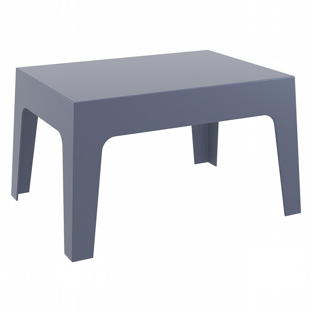 Box Resin Outdoor Coffee Table Dark Gray
