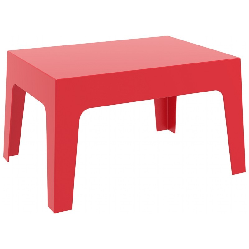 Box Resin Outdoor Coffee Table Red