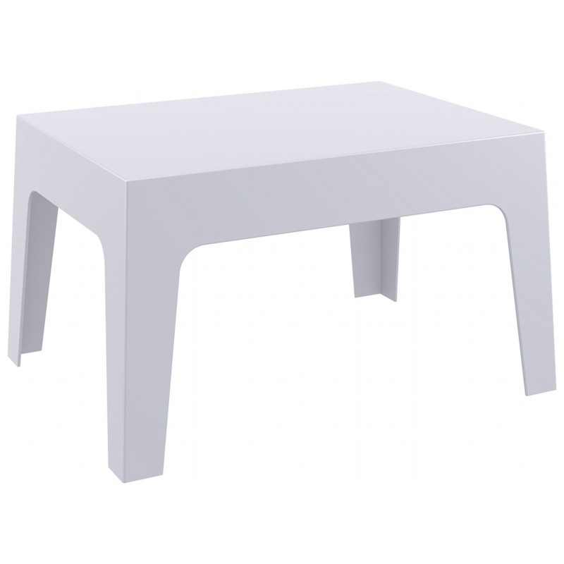 Box Resin Outdoor Coffee Table Silver Gray