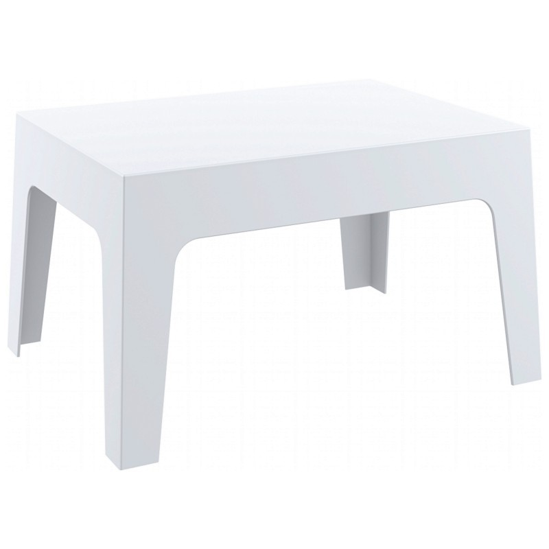 Box Resin Outdoor Coffee Table White
