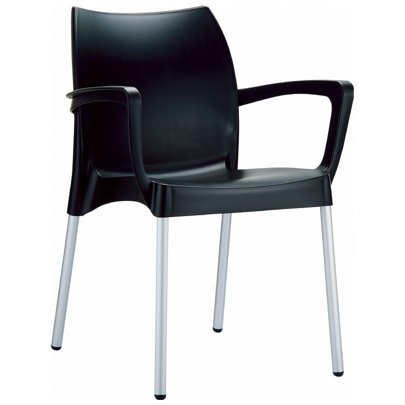 plastic dining chairs dolce plastic arm chair black
