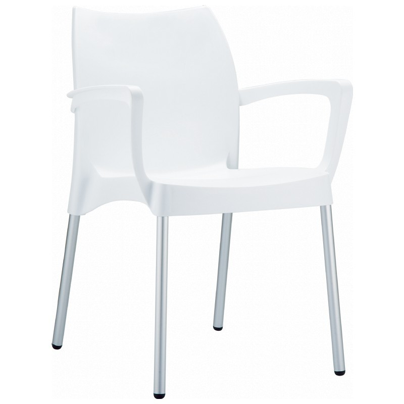 Dolce Plastic Arm Chair White