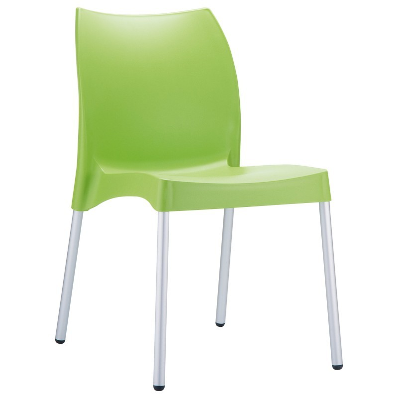Dolce Vita Plastic Dining Chair Green
