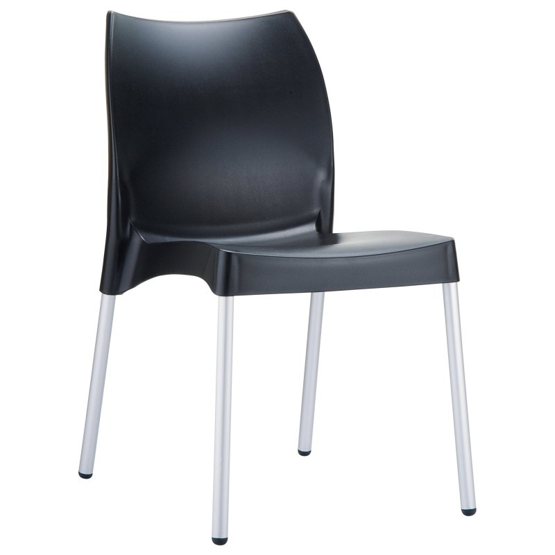 DV Vita Resin Outdoor Chair Black : Patio Chairs