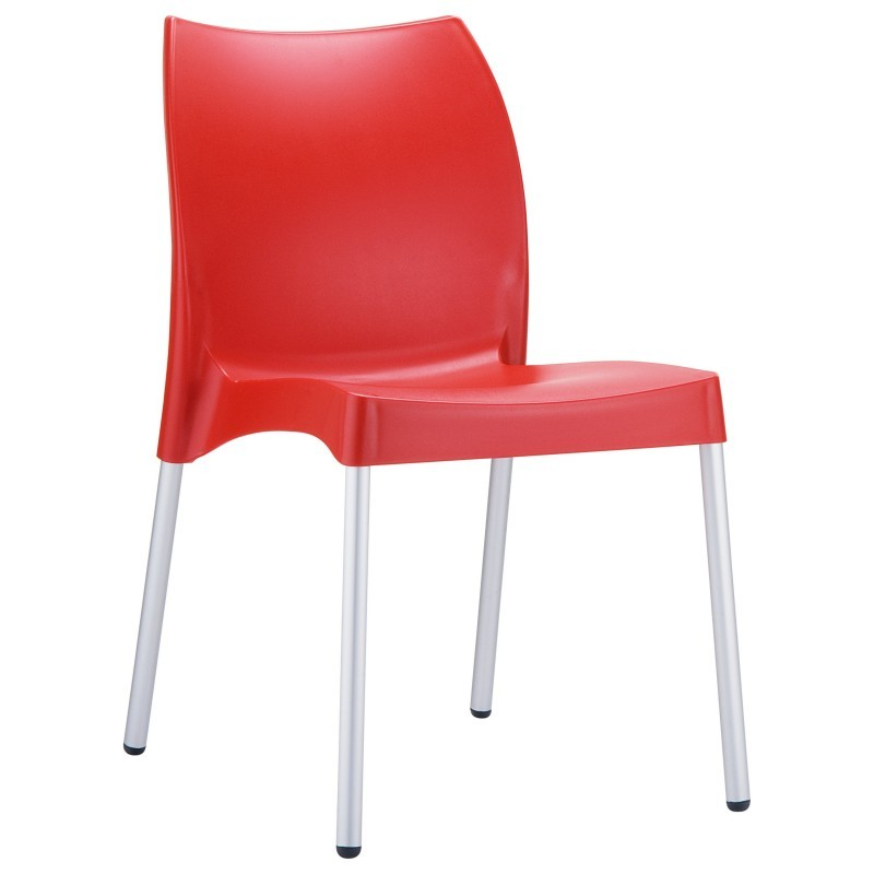 Dolce Vita Plastic Dining Chair Red