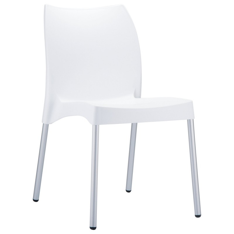 Resin chairs vita resin stackable outdoor chair white