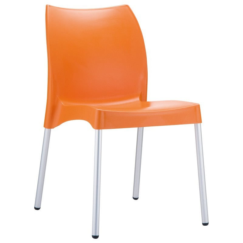 Dolce Vita Plastic Dining Chair Orange