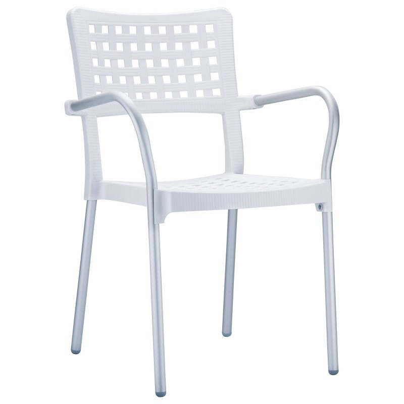 Gala Outdoor Arm Chair White