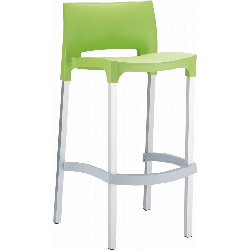 Gio Resin Outdoor Barstool Apple Green