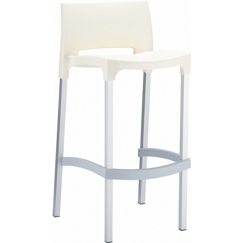Gio Resin Outdoor Barstool Beige