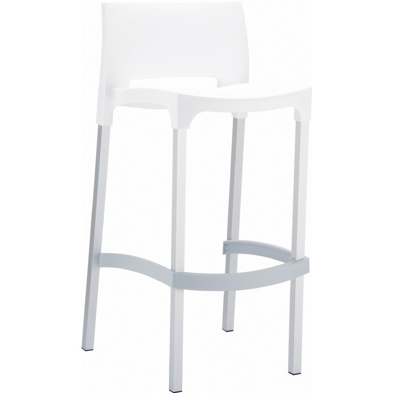 Gio Resin Outdoor Barstool White