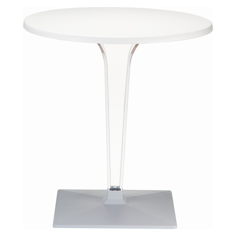 Ice Round Dining Table White Top 24 inch.