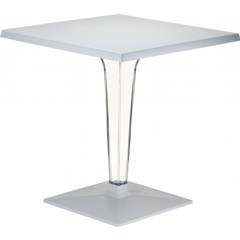 Ice Square Dining Table Gray Top 28 inch.
