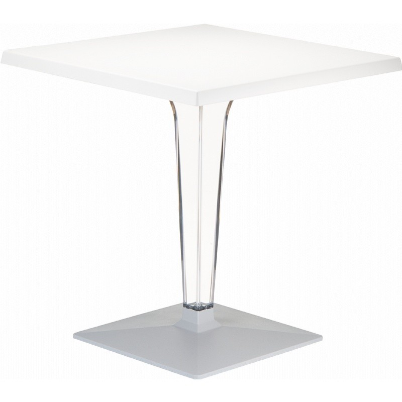 Ice Square Dining Table White Top 24 inch.