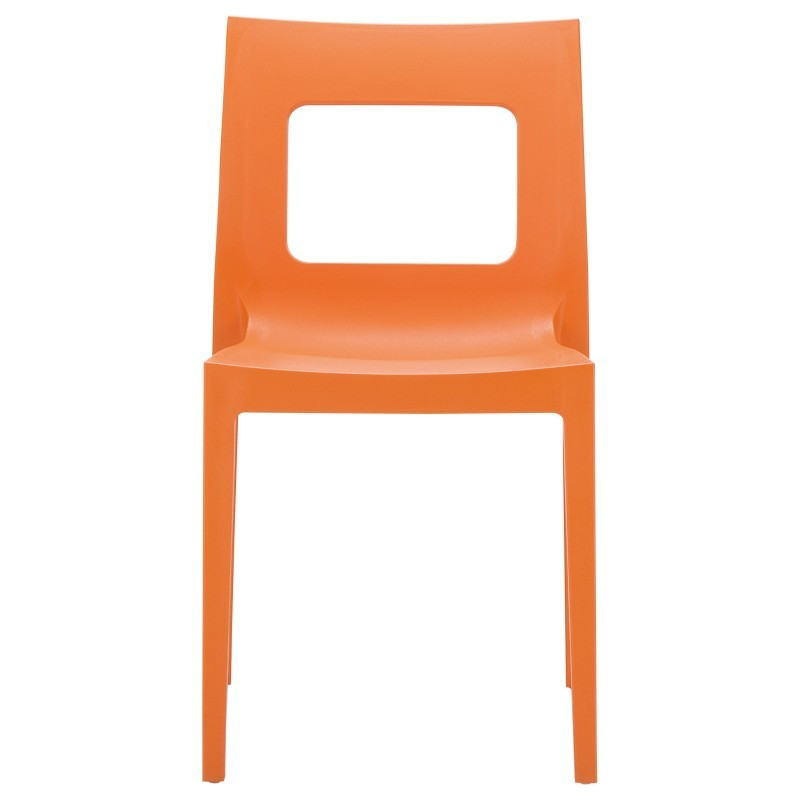 Lucca Outdoor Dining Chair Orange alternative photo #2