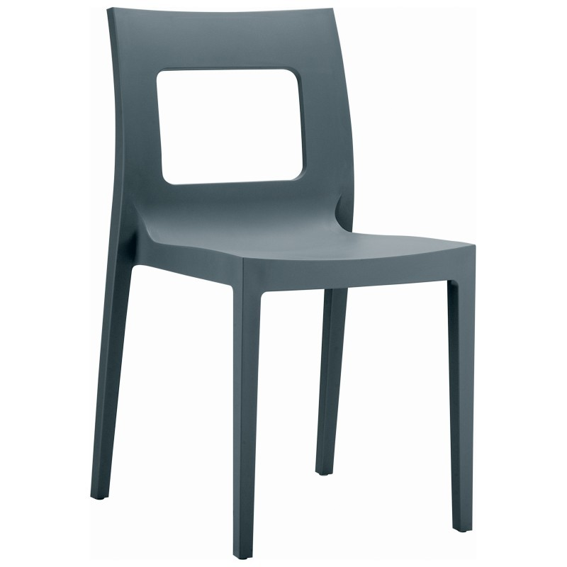 Lucca Outdoor Dining Chair Dark Gray