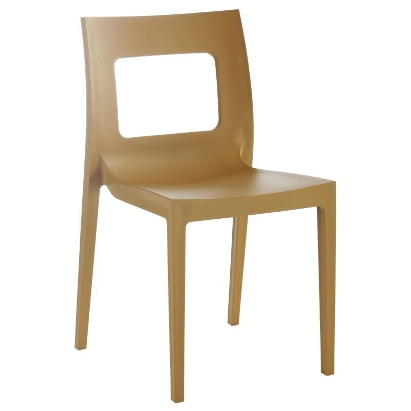 Lucca Stackable Outdoor Chair Latte ISP026