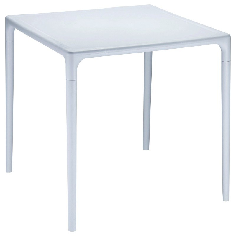 Siesta Mango 28 inch Square Plastic Dining Table Grey