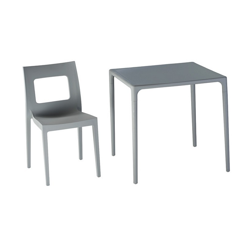 Lucca Outdoor Dining Chair Silver alternative photo