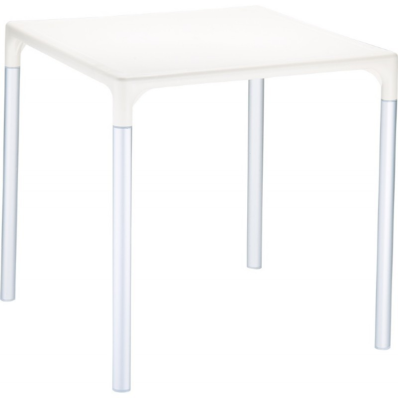 "Mango Alu Square Outdoor Dining Table 28"" Beige"