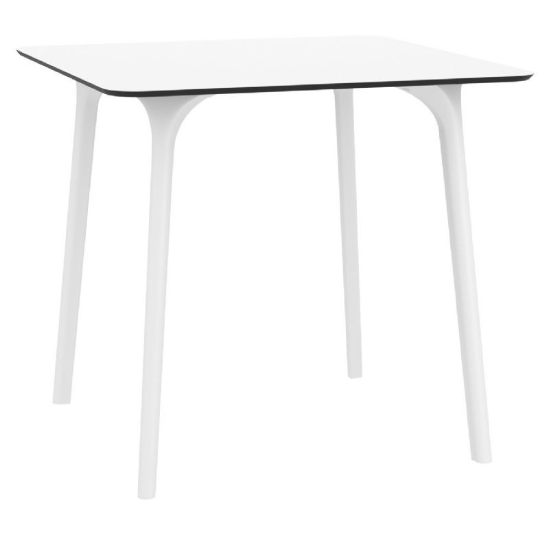 Maya Square Outdoor Dining Table 32 inch White