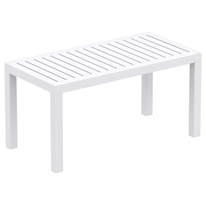 Ocean Rectangle Resin Outdoor Coffee Table White