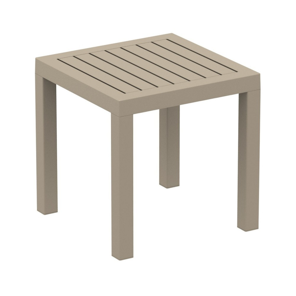 Ocean Square Resin Outdoor Side Table Dove Gray