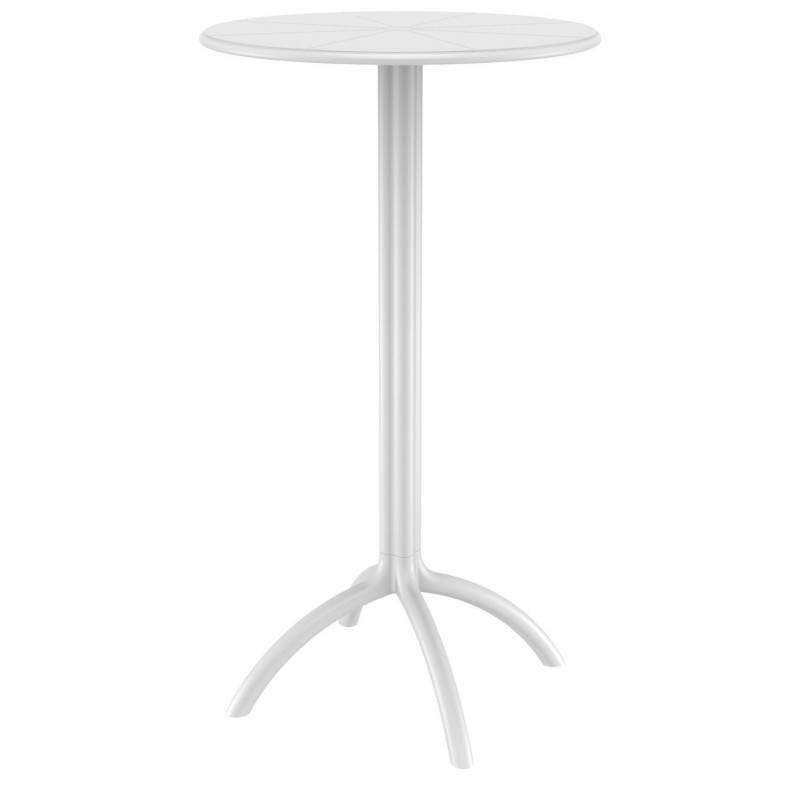 Octopus Resin Bar Table 24 inch Round White