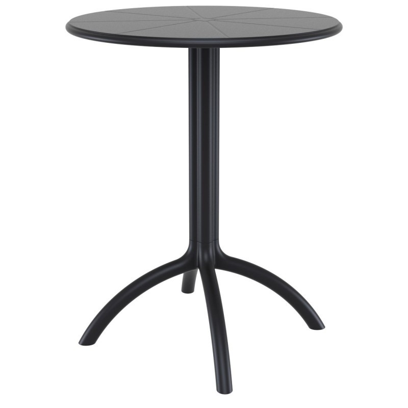 Octopus Resin Outdoor Dining Table 24 inch Round Black