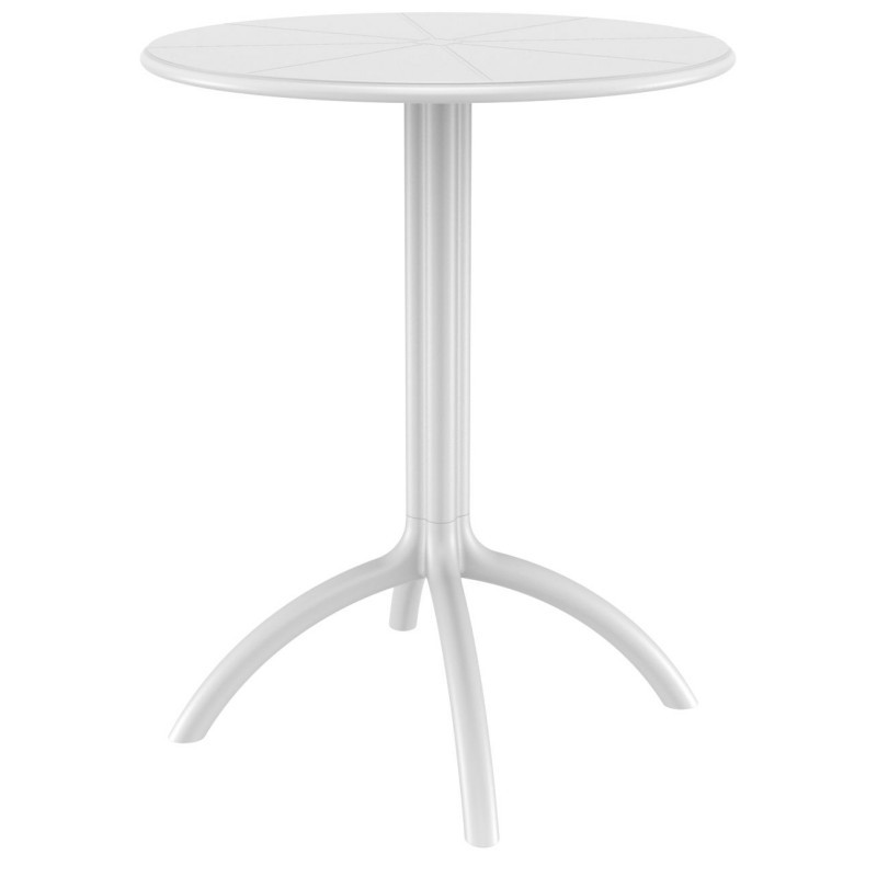 Octopus Resin Outdoor Dining Table 24 inch Round White
