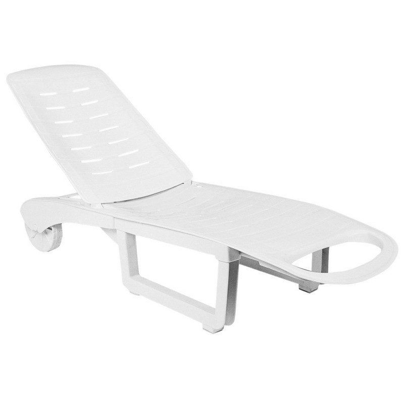 Siesta Sundance White Resin Chaise Lounge