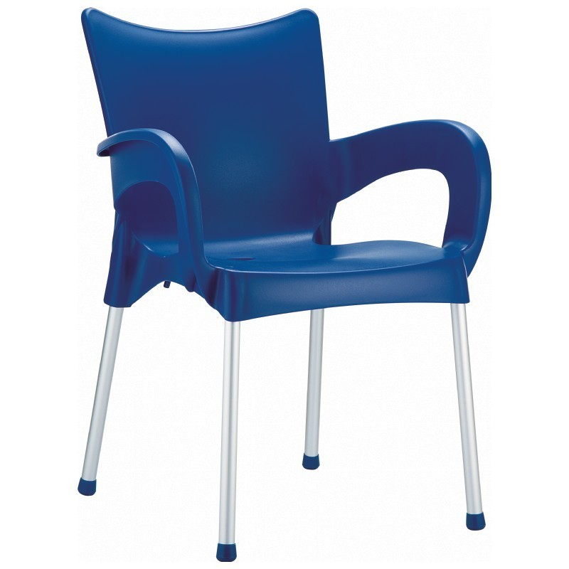 RJ Resin Outdoor Arm Chair Blue : Dining Chairs