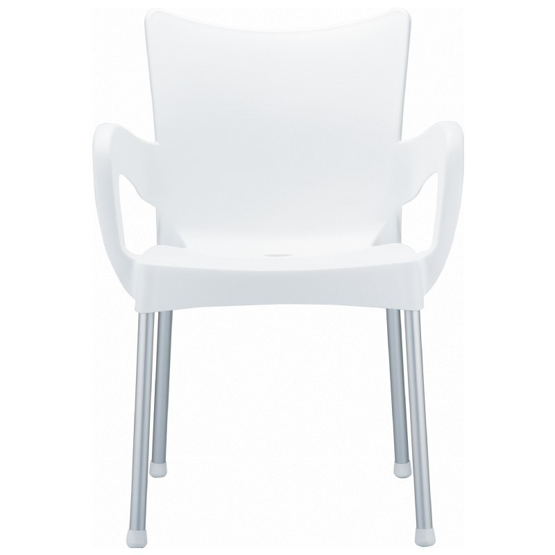 RJ Resin Outdoor Arm Chair White alternative photo #4