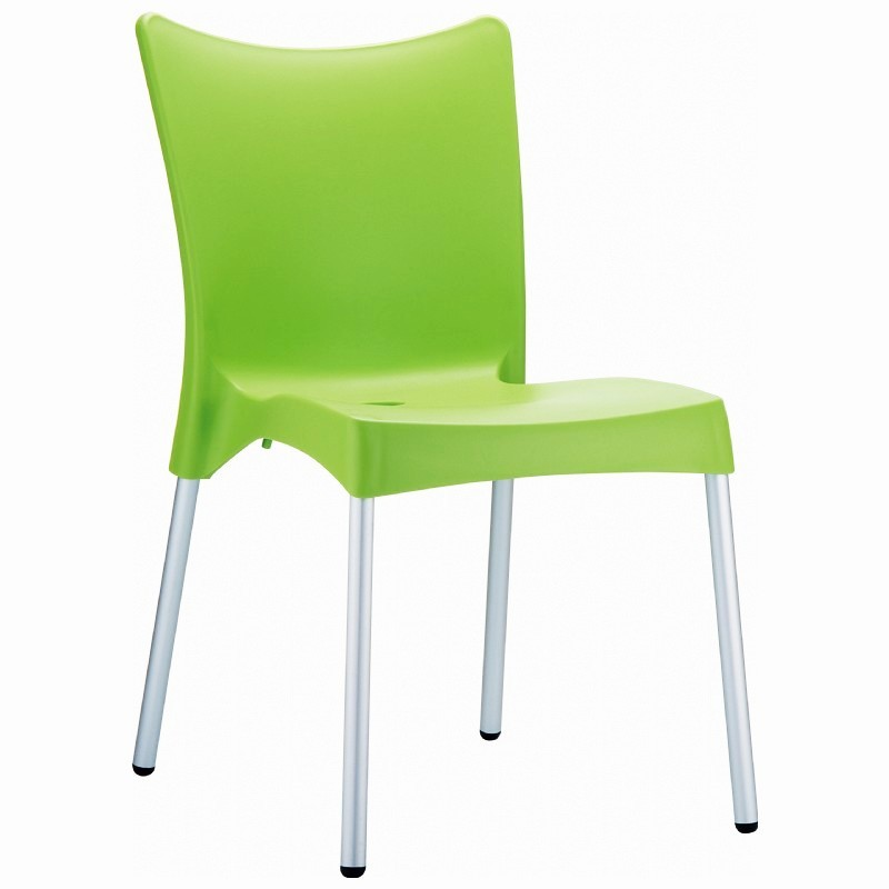 Colorful Plastic Patio Chairs: Siesta Juliette Outdoor Dining Chair Apple Green