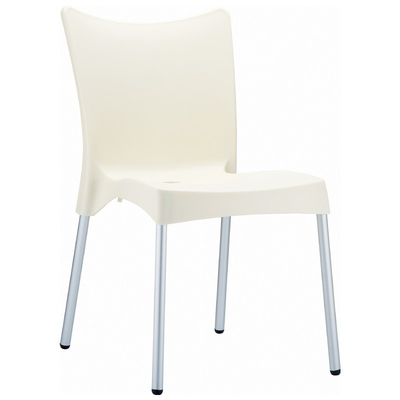 Heavy Duty Plastic Chairs: Siesta Juliette Outdoor Dining Chair Beige