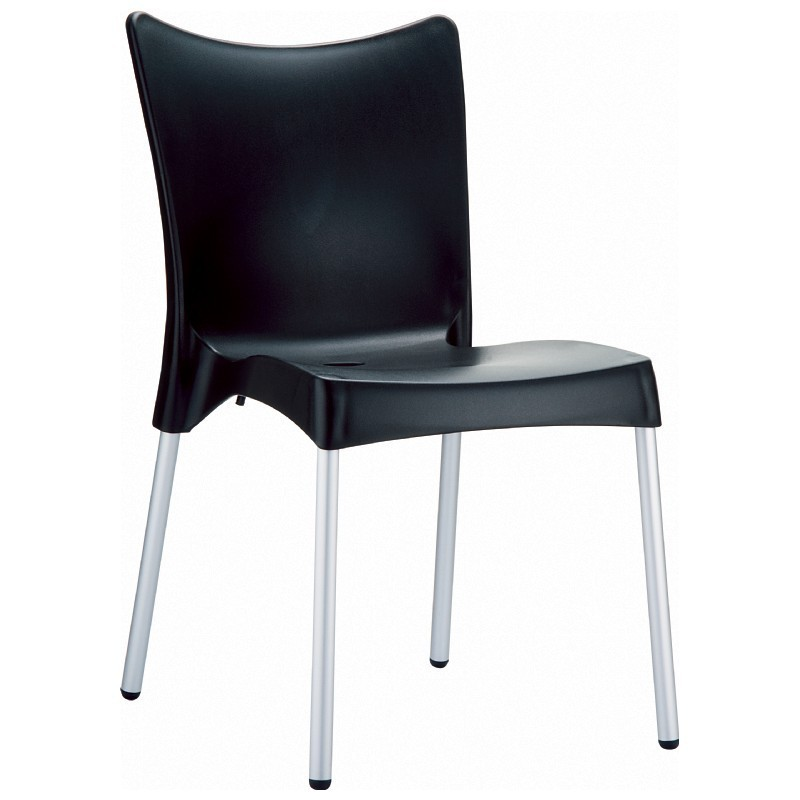 Outdoor Furniture: Plastic Outdoor Chairs: RJ Resin Outdoor Chair Black