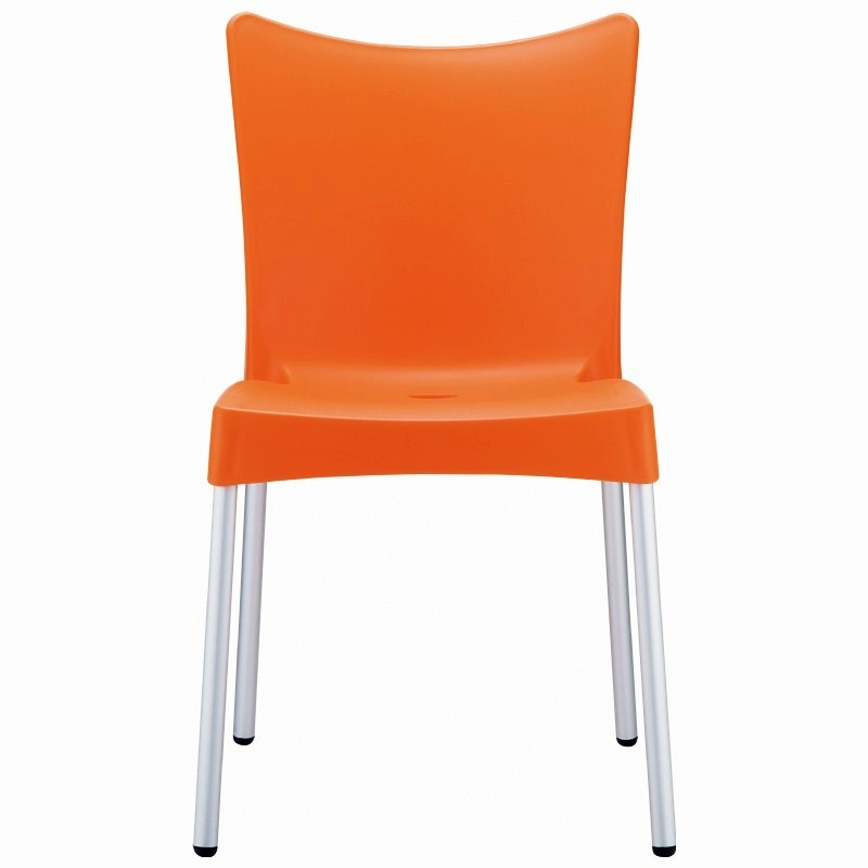 RJ Resin Outdoor Chair Orange alternative photo #2