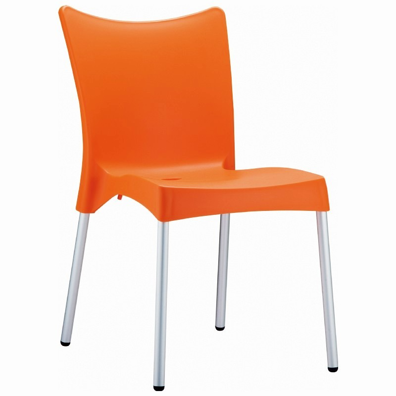 Heavy Duty Plastic Chairs: Siesta Juliette Outdoor Dining Chair Orange