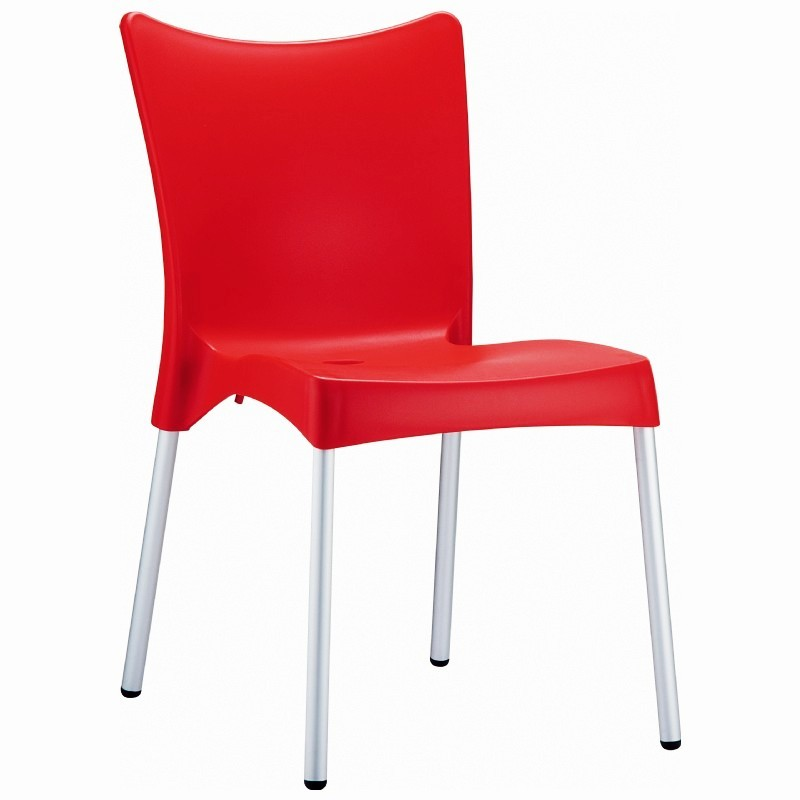 Outdoor Furniture: Plastic Outdoor Chairs: RJ Resin Outdoor Chair Red
