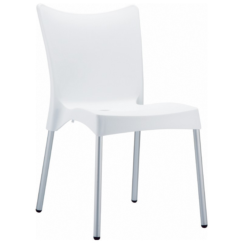 Heavy Duty Plastic Chairs: Siesta Juliette Outdoor Dining Chair White